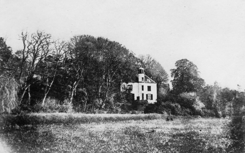 Het Landhuis Hulkestein op een foto uit ongeveer 1865.