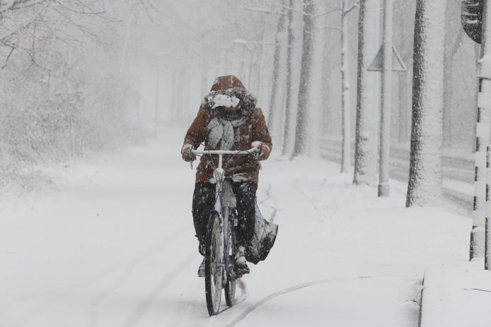 Sneeuw in Helmond