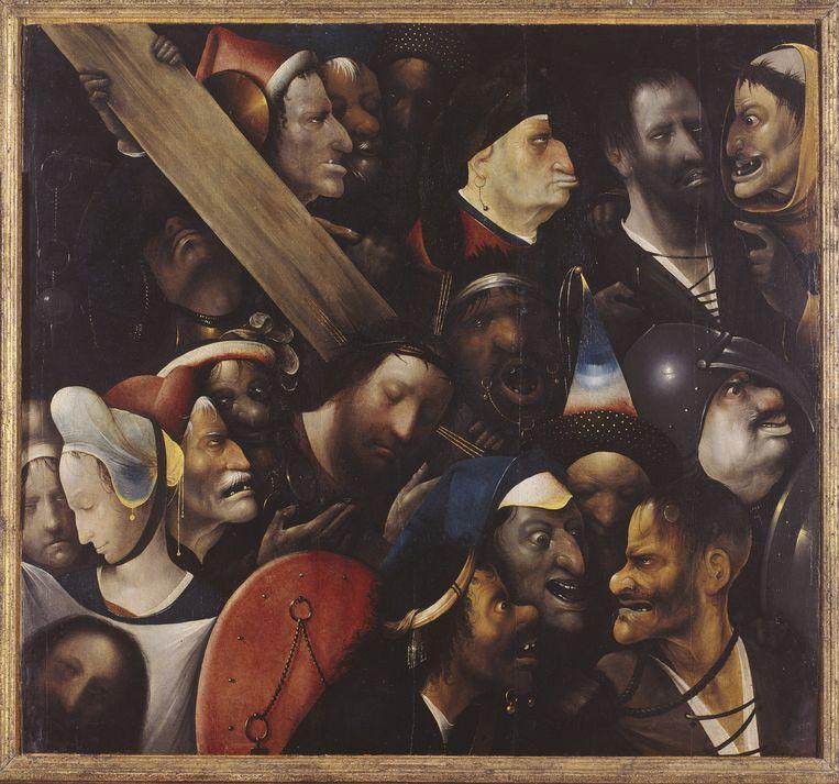 De Kruisdraging van Jeroen Bosch, circa 1450-1516. Beeld BELGAIMAGE