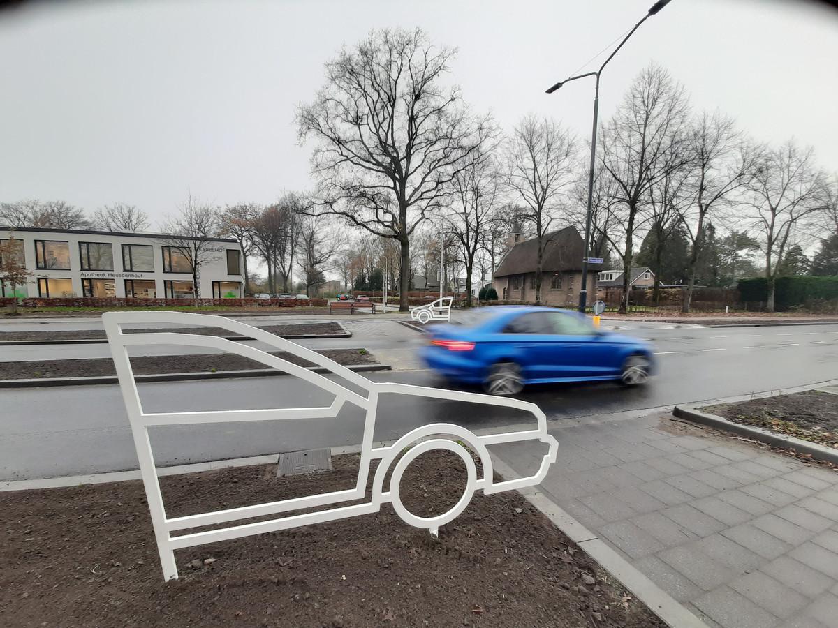 Autosilhouet kruispunt Heerbaan, Breda