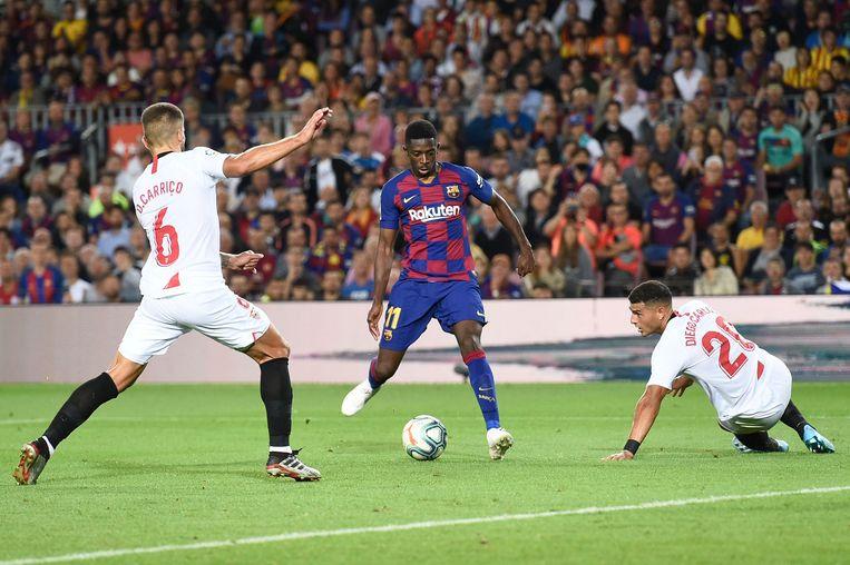 Ousmane Dembele pikte zijn goaltje mee.