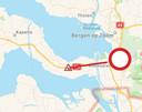A58 bij knooppunt Markiezaat dicht door ongeval in de richting van Bergen op Zoom