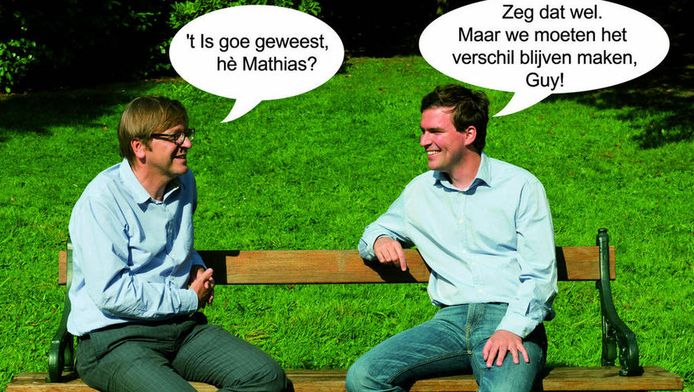 Guy Verhofstadt (l.) en Mathias De Clercq.