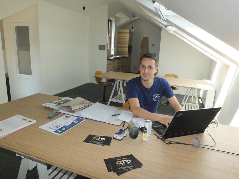 Koen Ally in zijn co-workingruimte Ocho.