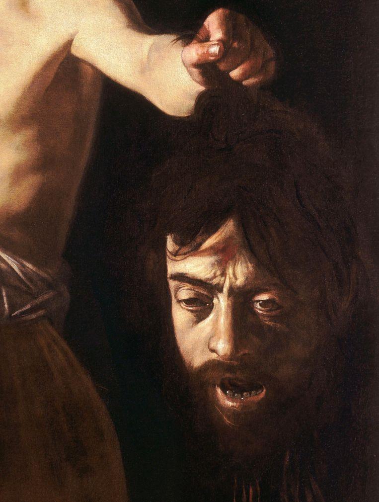 3. Caravaggio, David met het hoofd van Goliath (detail), 1610, Galleria Borghese, Rome. Beeld Galleria Borghese