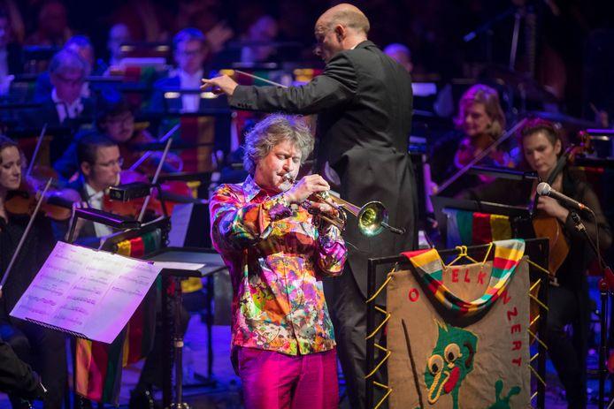 Trompettist Eric Vloeimans op het Oetelkonzert.