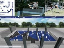 Freerunparcours en interactief sportveld in oude zoutbaden van kaasfabriek in Markelo
