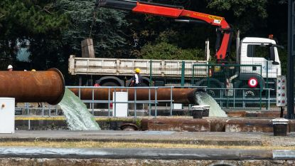 Vlaamse Waterweg zet grote waterpompen in om binnenvaart Albertkanaal te garanderen