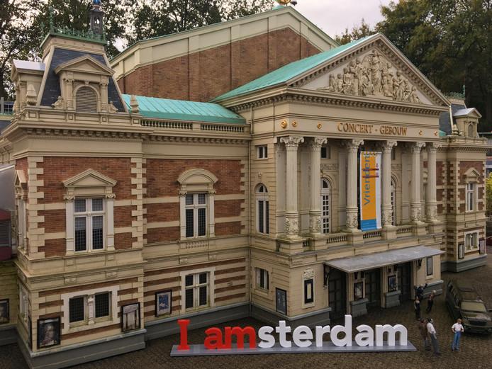 De I Amsterdam-letters voor het Concertgebouw.