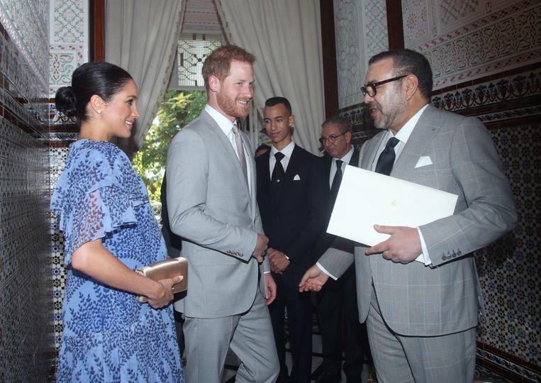 Prins Harry en zijn echtgenote Meghan nemen maandag afscheid van Marokko, nadat ze op audiëntie waren geweest bij koning Mohammed en kroonprins Moulay Hassan (15) in de koninklijke residentie in Rabat.