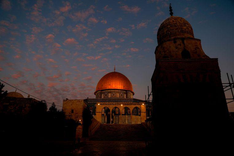 De Rotskoepel in Jerusalem in november dit jaar.  Beeld AFP