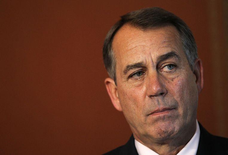 John Boehner, de Republikeinse leider in het Huis van Afgevaardigden. Beeld afp