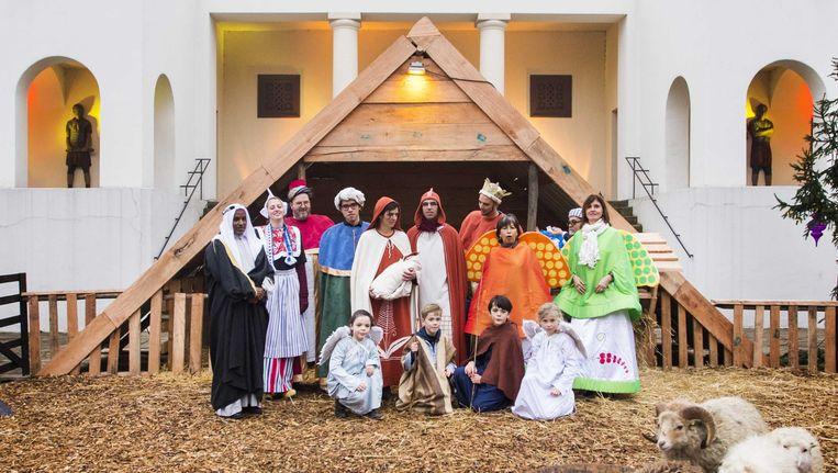 De levende Kerststal van Museumpark Oriëntalis bij Nijmegen Beeld ANP
