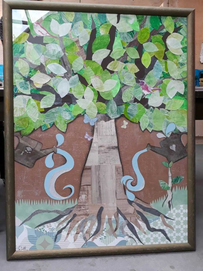 De kinderen van de Koningslinde in Vught maakten samen een kunstwerk.