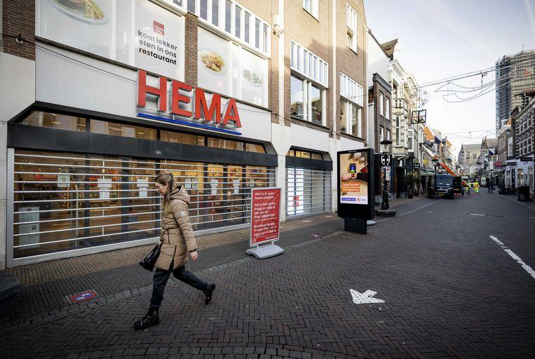 De Hema kondigde dinsdag aan open te blijven, maar kwam daar woensdag op terug. Beeld ANP