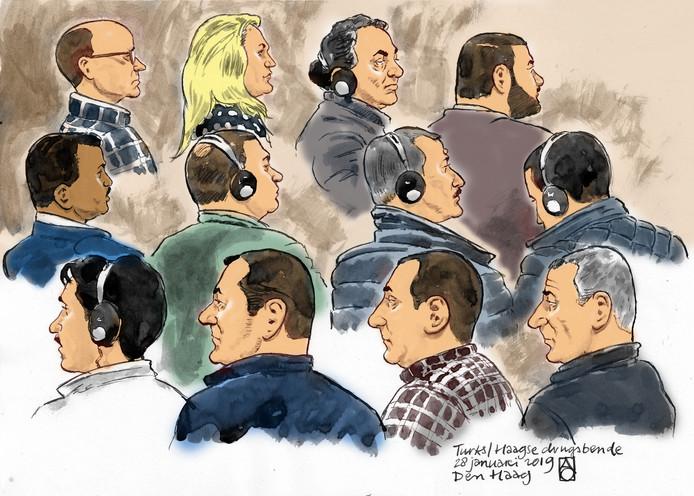 De Haagse drugsbende in de rechtbank.