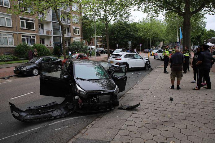 De schade aan de wagens is aanzienlijk.