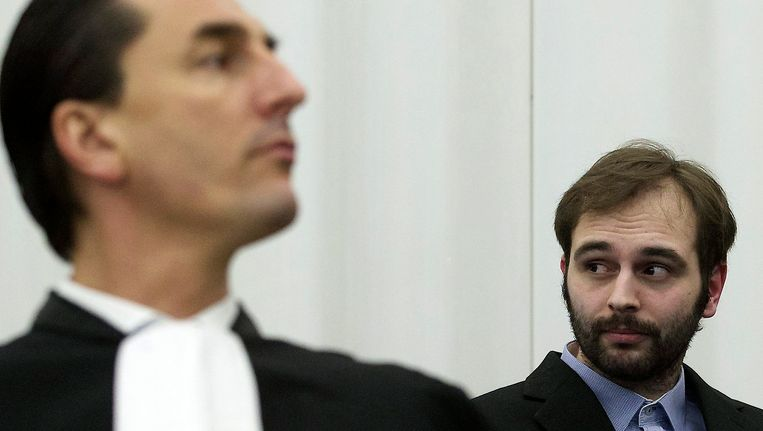 De Gelder in de rechtszaal op 11 maart Beeld REUTERS