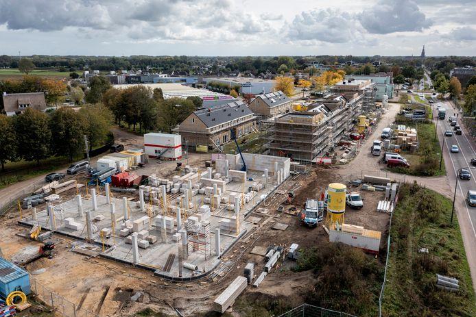 De bouw bij Heem van Selis in Boxtel. Het aantal woningen in de categorie goedkope huur valt nog tegen.