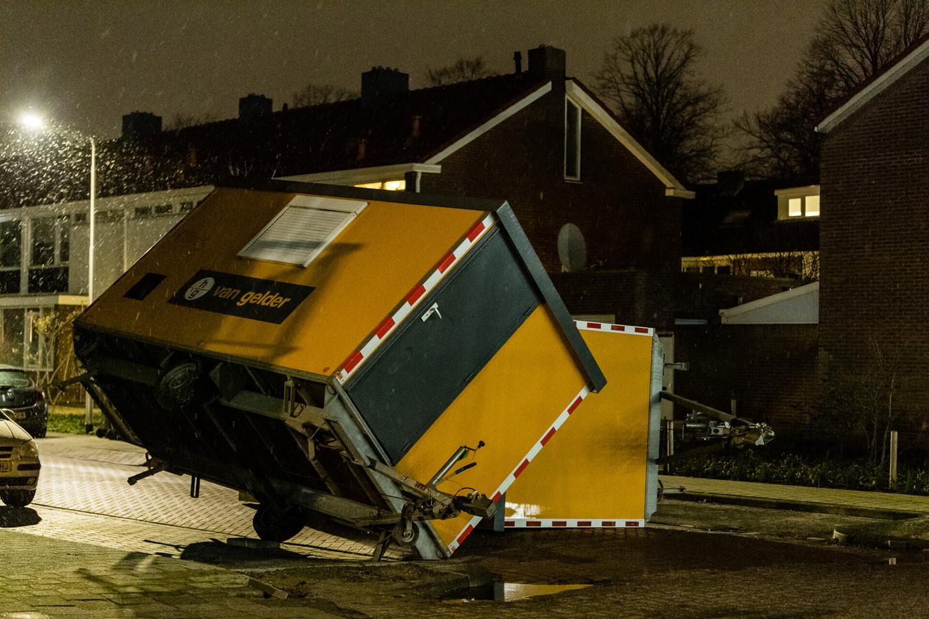 Er werd een ravage aangericht tijdens de rellen in Tilburg.