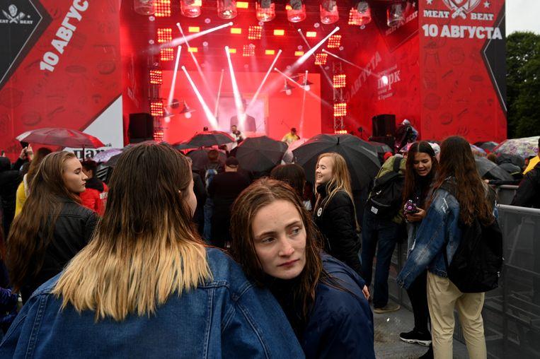 De autoriteiten in Moskou organiseren het festival in de hoop jongeren weg te lokken van de politieke demonstraties. Beeld Yuri Kozyrev