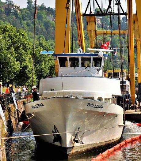Le yacht Wallonia a été remis à flot