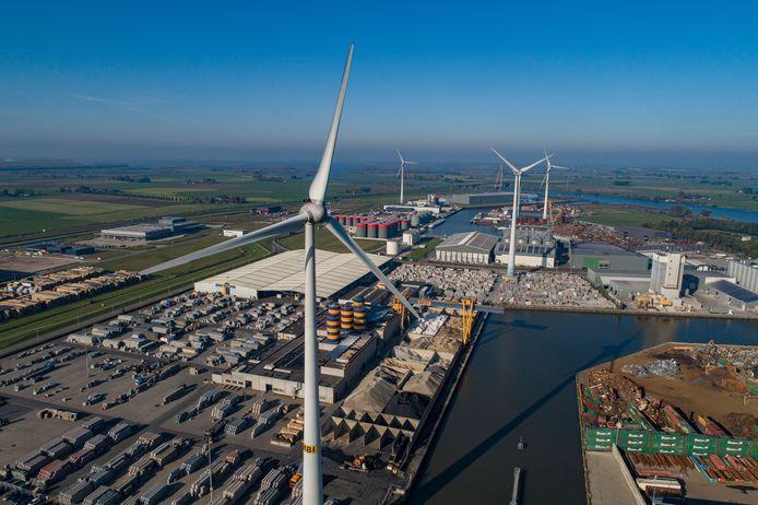 Er is veel belangstelling om windmolens bij te plaatsen in Kampen.