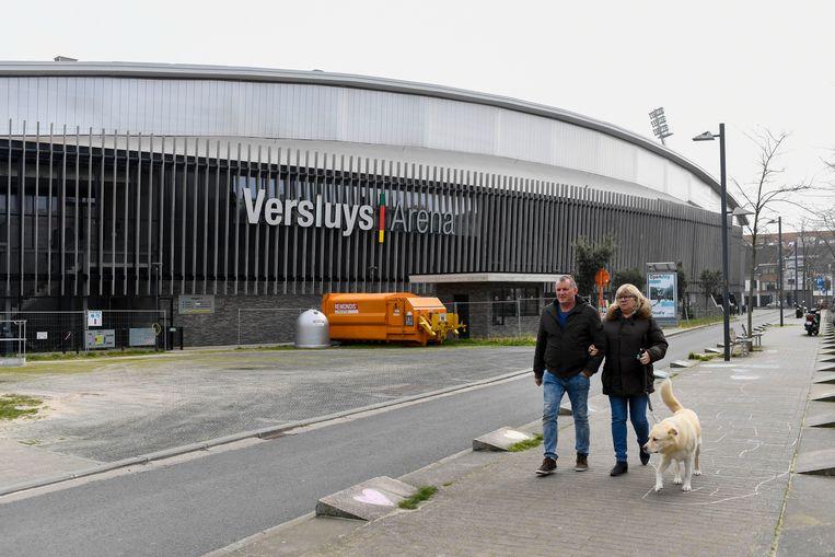 De Versluys Arena in Oostende. Beeld Photo News