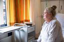 Een vertrouwd uitzicht voor Mieke; zij lag in totaal zeven weken in het St. Antonius Ziekenhuis, waaronder elf dagen op de ic. Vandaag mag ze naar huis.