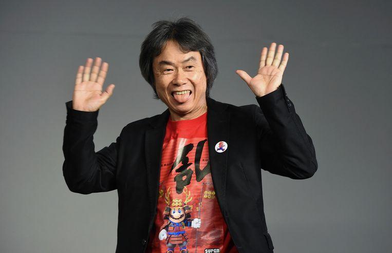 Opvallend is dat Shigeru Miyamoto, die Super Mario in de vroege jaren 80 creëerde, zwaar publicitair wordt uitgespeeld. Beeld Evan Agostini/Invision/AP