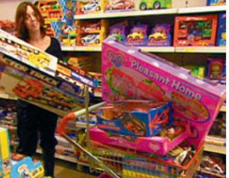 Daisy laadde geregeld haar kar vol met speelgoed. Foto VT4 Beeld UNKNOWN