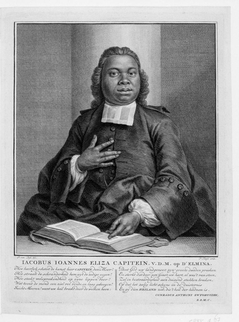 Jacobus Capitein (gravure uit 1742-1747). Beeld Illustratie Catharijne Convent