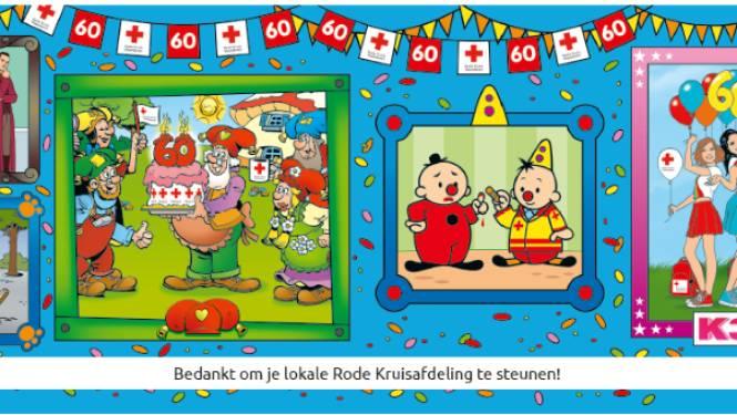 Rode Kruis Berlare start met 60ste stickeractie