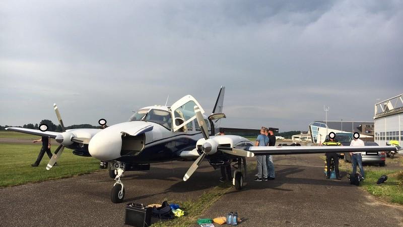 Het vliegtuig gisteren op Teuge.