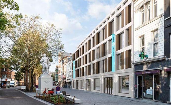 Aan de Oever, in hartje Antwerpen, plannen projectontwikkelaar Cores Development en de Duitse hotelketen Motel One een nieuw hotel.