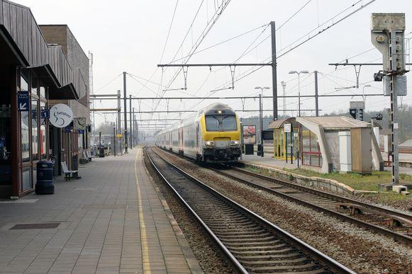 Een leeg station in Herentals.