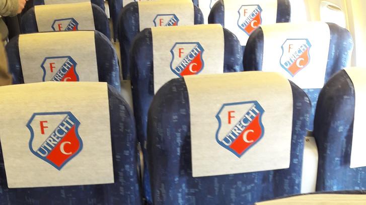 Selectie FC Utrecht onderweg naar Sint Petersburg
