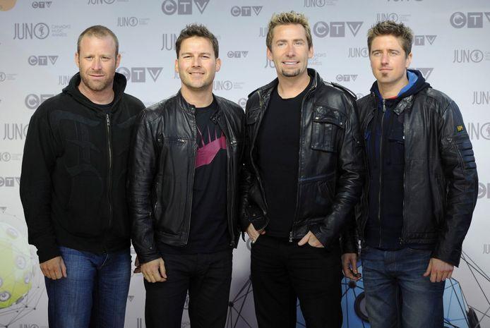 De bandleden van Nickelback.