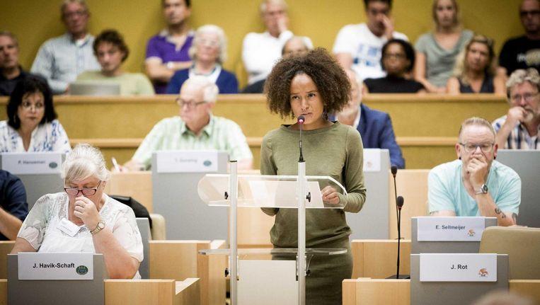Juliëtte Rot tijdens een raadsvergadering in 2016 Beeld anp
