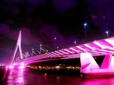 Onderhoudsbeurt voor verlichting Erasmusbrug