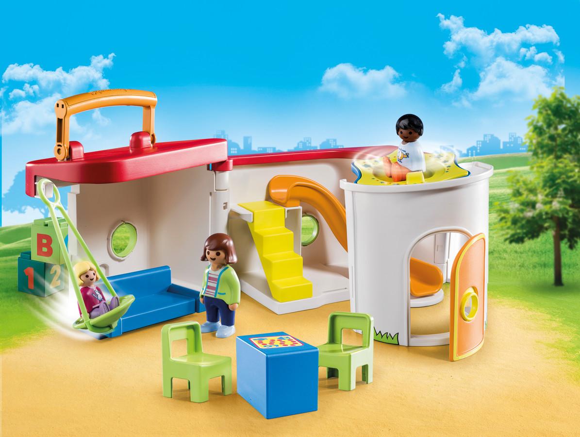 La garderie transportable Playmobil.