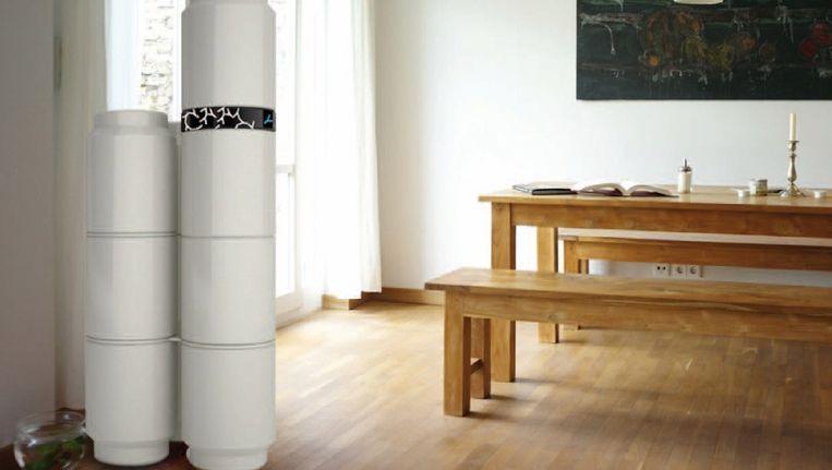 De Yoe, een slimme batterij die over een paar jaar in huis kan staan te pronken. Beeld Younicos