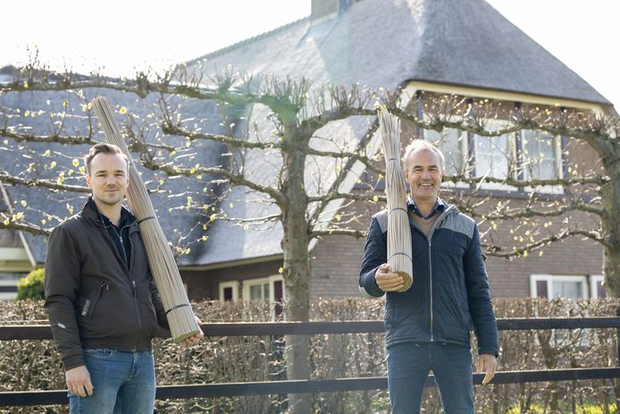 Directeur Jan Wemekamp (rechts) van Candur en zijn zoon Dirk Jan Wemekamp.
