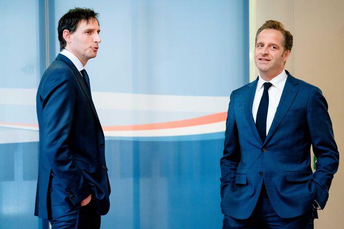 CDA-minister Wopke Hoekstra (Financiën) en Hugo de Jonge (Volksgezondheid) hebben een brandbrief ontvangen van bezorgde ondernemers in de partij. Zij willen dat de oproep om zoveel mogelijk thuis te werken van tafel gaat.
