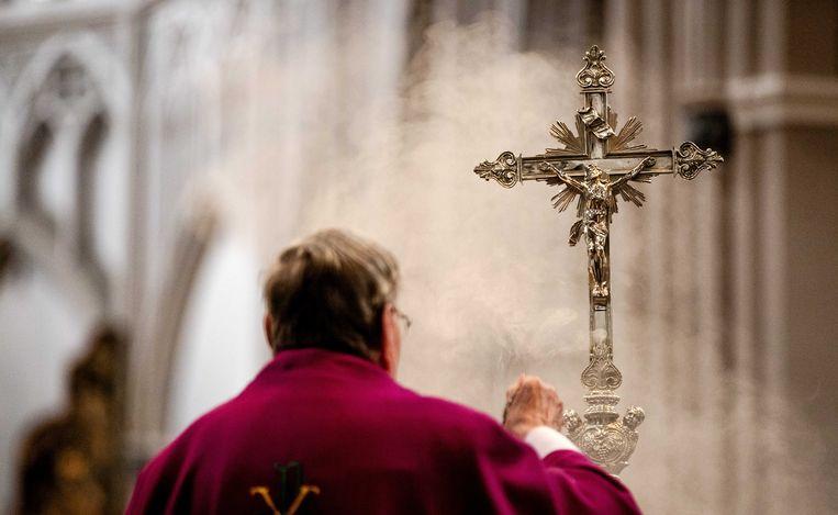 Een eucharistieviering. Beeld ANP