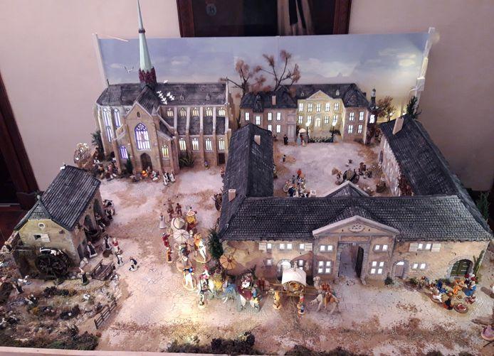 Reproduction de l'abbaye comme à l'époque des moines brasseurs.
