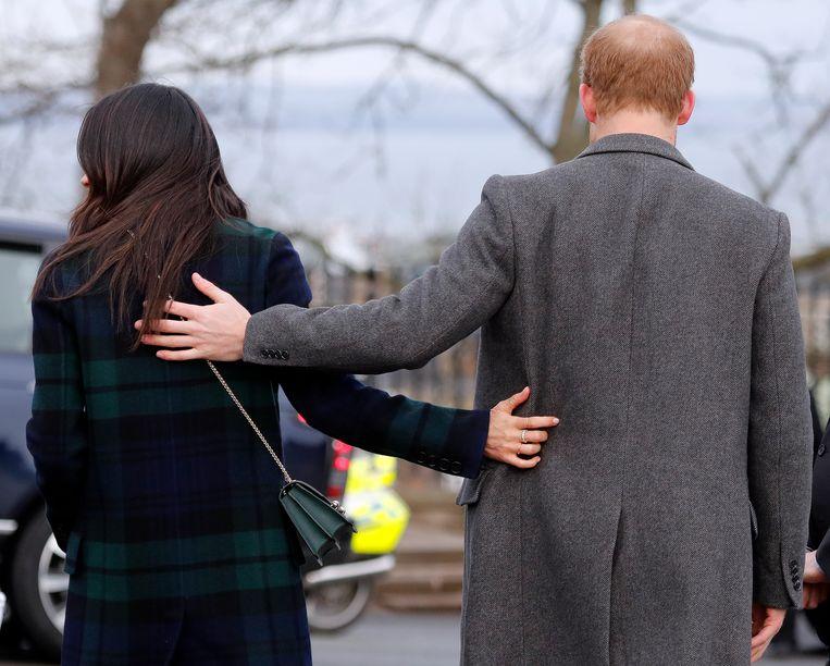 Meghan Markle en prins Harry. Beeld AP