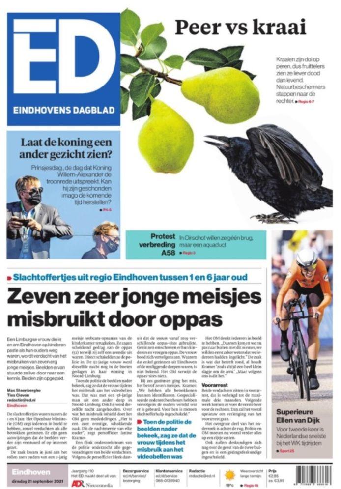 De digitale krant was dinsdagochtend in de meeste edities niet compleet.
