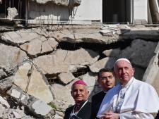Paus steekt christenen Mosul hart onder de riem tussen ruïnes van kerken
