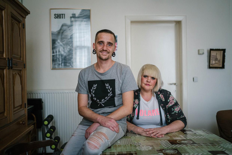 Sinds Danny Persy en Britt Weygaerts hulp zochten voor hun drugsverslaving, ontdekten ze dat ze hepatitispositief waren. Gelukkig zijn ze daar inmiddels ook van genezen.  Beeld Wouter Van Vooren
